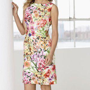 NWT Chetta B Size 10 Floral Garden Shift Dress